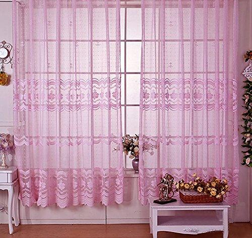 ... Seite Bside Rod Pocket Top Romantik Stil Blossom Jacquard Vorhänge,  Gardinen Voile Fenster Behandlungen ...