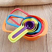 Generic New 6pcs Multi-sizes Plastic Measuring Spoons Set for Home Baking 7. 5-250ml