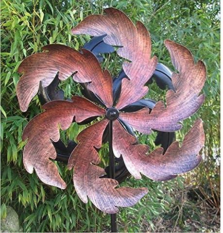 1.8 Metre Oak Leaf Spiral Wind Spinner / Wind Dancer