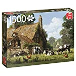 Jumbo Jumbo Premium Puzzle Collection Cows at a Farm 1,500 Piece Jigsaw Puzzle
