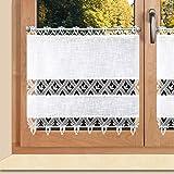 Landhausgardine'Rebecca' Plauener Spitze® 3590 Scheibengardine Panneau (Höhe x Breite 60 x 126 cm)
