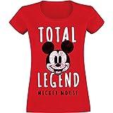 Micky & Minnie Total Legend Mujer Camiseta Rojo, Regular