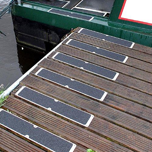 4 x Aluminium Anti Slip Plates for Boat Docks Decking & Walkways 115 X 635 mm Test