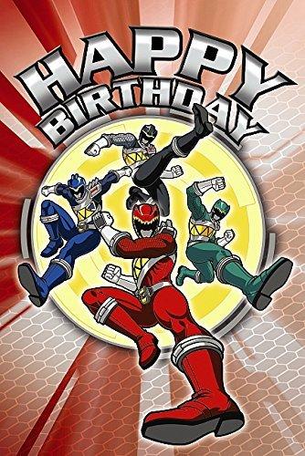 Power Rangers Grußkarte-Happy Birthday