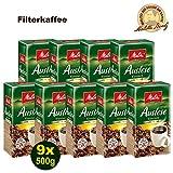 Melitta Auslese klassisch Fílterkaffee 9x 500g (4500g) - aus besten Anbaugebieten