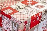 Venilia Tischdecke Red Mountain Tischtuch Tischwäsche Wachstuch pflegeleicht wasserabweisend Rechteckig, PVC-Polyester, Rot, 140 x 200 cm, 53065