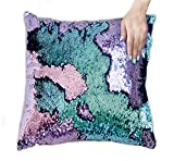 Best Throw Pillows - Ankit 16x16 Mermaid Sequin Cushions Pillow With Filler Review