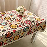 V-EWIGE Pastoral del algodón del estilo de la cubierta Mesa de café de tela Manteles Tabla Mats grandes flores 140 * 140cm Nuevo