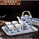 CUPWENH Teeservice Porzellan mit Chinesischem Tee Home Große Keramik Teekanne Getränkehalter Tea Service, Coffee Set