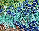 Legendarte P-192 Quadro di  Vincent Van Gogh - Iris, Stampa digitale su tela, Multicolore, cm. 80 x 100