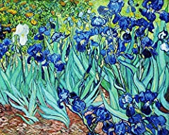 Idea Regalo - Legendarte P-192 Quadro di  Vincent Van Gogh - Iris, Stampa digitale su tela, Multicolore, cm. 80 x 100