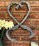 Homes on Trend Large Rustic Heart Wreath Twig Hanging Willow Wicker Type Wedding Decoration