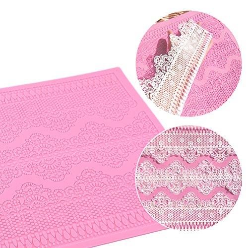 prezzo BESTOMZ Stampo Pizzo Silicone Per torta decorazione (rosa)