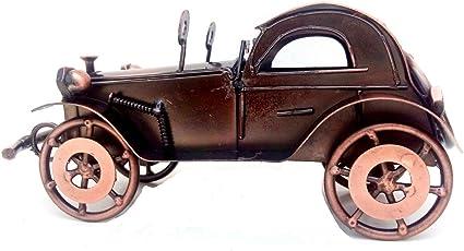 "Mohangifts Scrap Metal Art Handmade Retro Vintage MotorCar Big Miniature Model Medium 4.5x8"""