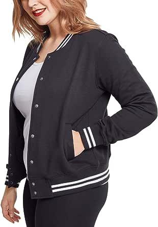 Urban Classics Ladies College Sweat Jacket Felpa a Giacca Donna