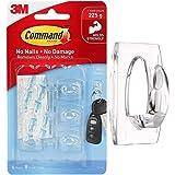 3M Command Haken Transparant Plastics 6 Haak/8 S Size Bands, Helder