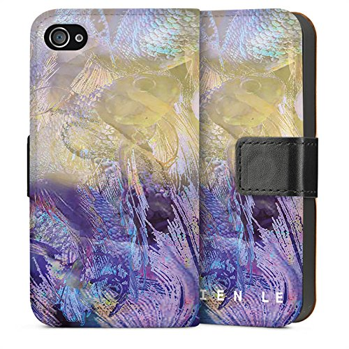 Apple iPhone 5s Housse Étui Protection Coque HIEN LE Poisson rouge Design Sideflip Sac