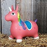 Hüpftier Hüpfpferd Sprungpferd Hopser Gummihüpfer Pferd oder Einhorn Farbauswahl, Farbe:dunkelrosa
