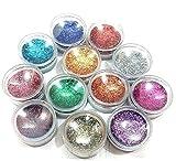 Generic Eye Glitter / Nail Glitter Set ( Pack of 12 Glitters)