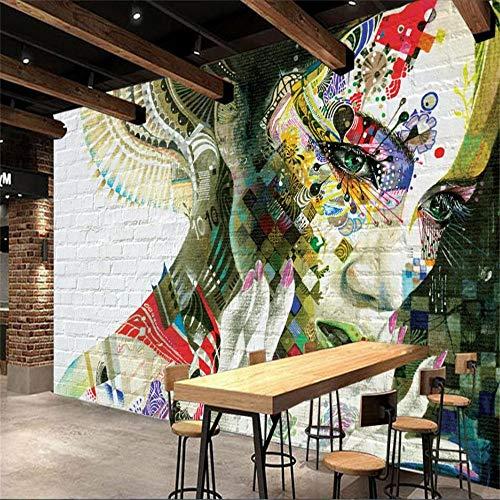 Murale, 3d, personalità muro di mattoni colorati bellezza foto sexy moderna decorazione della casa carta da parati, 366 cm (w) x 254 cm (h)
