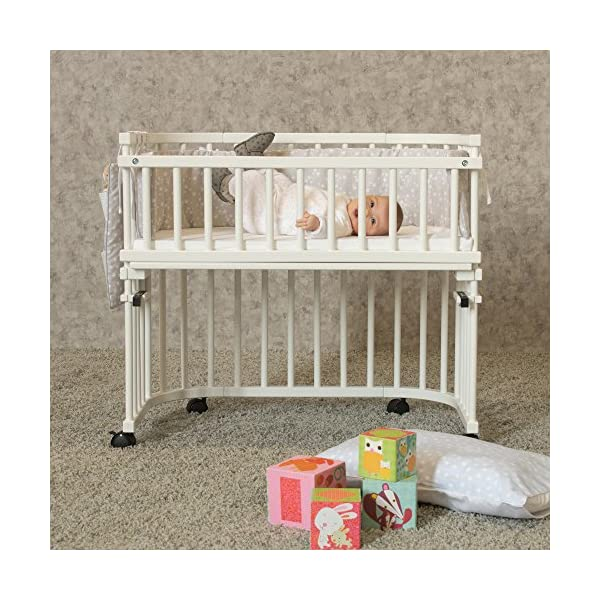 Babybay Guardrail for bedside sleeper Cot, White Varnished babybay Made of solid wood Comes with the locking clip Fit for original, mini and midi co-sleeper cot 4