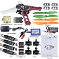 SunFounder Q250 FPV Quadcopter Drone Frame Kit CC3D Controller ESC XROTOR 15A Motor MT2204 2300KV 11.1V Li-po Battery Racing Flying 4-Axis CW/ CCW Propellers Balance Charger Hobbywing EMAX