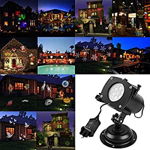 acrato christmas projector lights led holiday lights 12 replaceable