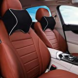 OBLIQ Memory Foam Car Headrest Cushion, Neck Rest Seat Pillow for Pain Relief, Ergonomic Cervical Support for All Cars (Black