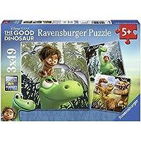 Ravensburger 09406 - Il Viaggio di Arlo The Good Dinosaur Puzzle, 3 x 49 Pezzi