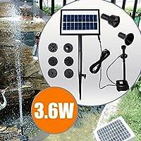 Bluelover 9V 3.6 w Solar Power DC Brushless acqua pompa giardino paesaggio fontana con LED bianco