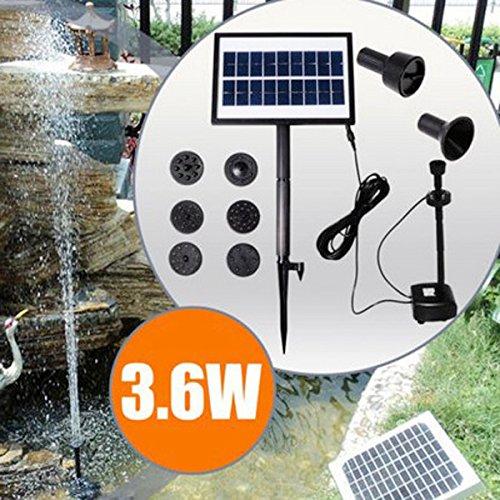 DaDago 9V 3.6W Solar Power Dc Bürstenlose Wasserpumpe Garten-Landschaftsbrunnen Mit Weißer Led