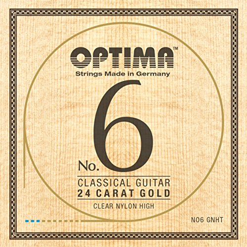 Optima NO.6 Classical 24K GOLD Strings, Nylon Set - High Tension