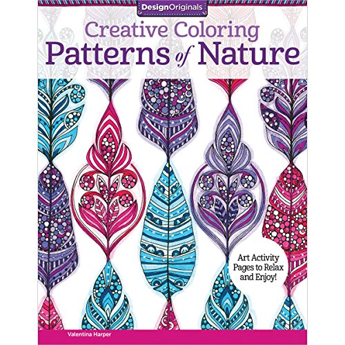 Creative Coloring Patterns of Nature: Art Activity Pages to Relax and Enjoy!