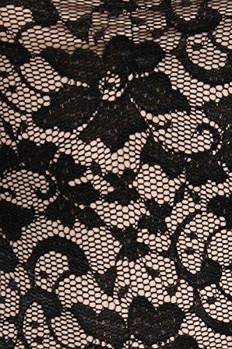 PILOT® Sienna dentelle florale robe moulante à lanières Noir