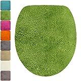 PROHEIM Housse pour abattant WC de 47 x 36 cm - Couverture d'abattant WC Ovale 1200 g/m², Couleur:Vert