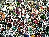 SBS Lot de Stickers Gore, Tête de Mort, crâne, Skull Head, Autocollants Punk, Zombie, Squelette, Dark, Rock, Noir, Sticker Vinyl Glossy, Mort-Vivant, Dead, Peur, Graffiti, Custom (20)