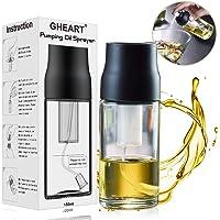 GHEART Olio Spruzzatore  Oil Sprayer Dispenser 150ML Nebulizzatore Olio Aceto Spruzzatore Cucina in Vetro per BBQ  Insalata  Pane di Cottura  Cucina