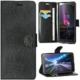 Zaoma Diary Type Flip Cover for Lenovo Phab 2 Plus - Black Leather Look