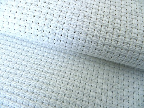 Aida-Zählstoff (6weiß AIDA Binca Stoff Qualität Stoff ideal für Kinder Schnittmuster in verschiedenen Größen, Weiß, 60 x 100 cm