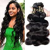 Yavida Meche Bresilienne Lot Cheveux Naturel Brésilienne Tissage Bresilien en Lot Tissage Remy Hair Ondulé 300g Tissage de Cheveux de Vague de Corps 22 24 26 Pouces