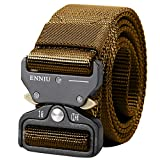 "AIZESI Tactical Belt 1.5"" Tactical Heavy Duty Waist Belt, Quick-Release Military Style Shooters Nylon Belts with Metal Buckle (120cm/47in, KHAKI)"