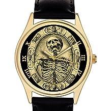 Fantástico reloj de pulsera Tempis Fugit, simbolismo masónico, 40 mm, ...