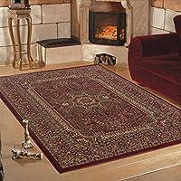 Qualità orientali tradizionali con design classico morbido rosso tappeto in 6misure, Polipropilene, Red, 160 x 230 cm (5'3'' x 7'7'')