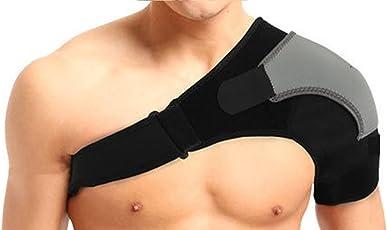 Tima Adjustable Orthopedic Shoulder Support Neoprene (Free Size, Black)
