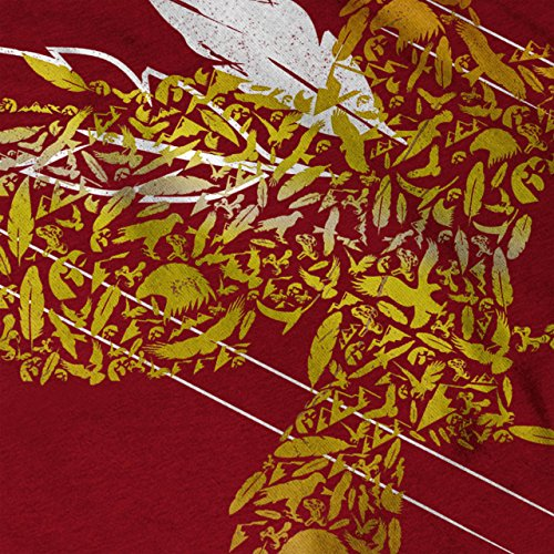 Vogel Feder Fliege Natur Damen S-2XL Muskelshirt   Wellcoda Red