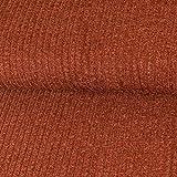 Strickstoff Meliert Terrakotta Einfarbig Uni Strickjersey Modestoffe Strick melangeeffekt - Preis Gilt für 0,5 Meter