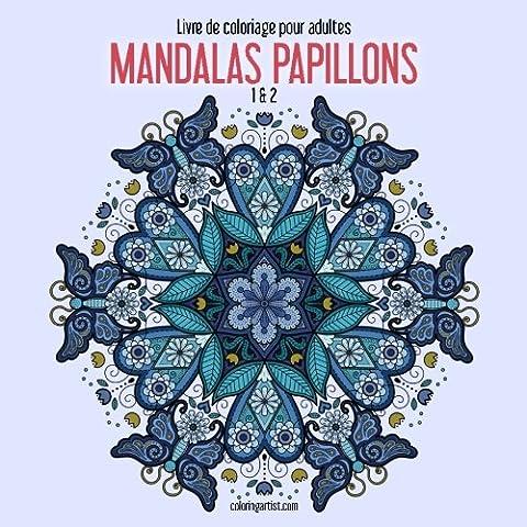 Livre de coloriage pour adultes Mandalas papillons 1 & 2