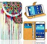 Samsung Galaxy Grand Neo / Grand Neo Plus Handy Tasche, FoneExpert® Wallet Case Flip Cover Hüllen Etui Ledertasche Lederhülle Premium Schutzhülle für Samsung Galaxy Grand Neo / Grand Neo Plus (Pattern 14)