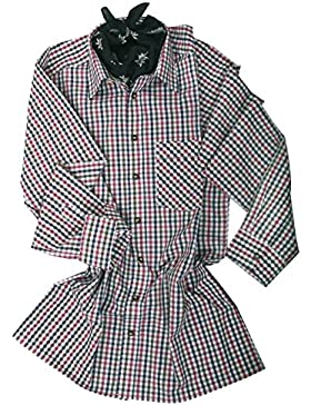 Top-Quality Trachtenhemd Herren - Rot/Blau-Karo/kariert - Langarm/Kurzarm - Komfort Baumwolle
