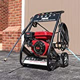 Wido Mobile Petrol Powered 5.5hp High Power Pressure Jet Washer Engine Max 2500psi